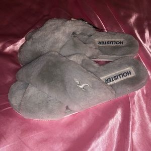 Fuzzy Hollister Slippers/Slides